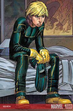 John Romita Jr - Kick Ass #4 Arte Nerd, Nerd Art, Comic Book Characters, Comic Books Art, Marvel Dc, Marvel Comics, Manhwa, Kickass Comic, Mark Millar