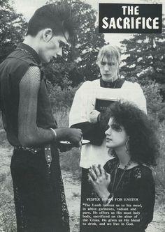 John Koviak in a scan from Propaganda Magazine. Photo by Fred H Berger Vintage Goth, 80s Goth, Punk Goth, Punk Fashion, Gothic Fashion, Gothic Musik, Moda Punk, Arte Punk, Goth Bands