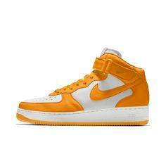 39a0b84f93e Nike Air Force 1 Mid iD Big Kids  Shoe Size 3.5Y (Yellow)