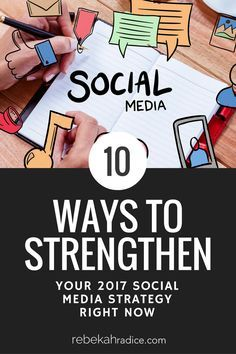 How to Strengthen Your 2017 Social Media Strategy via. Social media marketing, business strategy and ideas