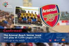 Arsenal Beach Soccer Team To Feature In This Year's COPA Lagos.