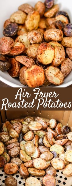 Air Fryer Roasted Potatoes Air Fryer Roasted Potatoes Pickup baby potatoes and grab spices from the pantry to make these delicious crispy Air Fryer Roasted Potatoes! Perfect side dish done in 20 minutes! Air Fryer Recipes Appetizers, Air Fryer Recipes Low Carb, Air Fryer Recipes Breakfast, Air Fryer Recipes For Chicken, Breakfast Ideas, Air Fryer Recipes Potatoes, Side Dish Recipes, Dinner Recipes, Baby Potato Recipes