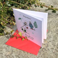 Wedding cards, mix and match our winter designs, from sledge to ski, to snowboard. This card has a skier and a snowboarder. Happy to please at cool wedding stationery. The coolest ski cards around! Snowboard Wedding, Ski Wedding, Snowboarding, Skiing, Ski Card, Bride Veil, Wedding Stationery, Wedding Cards, Snowflakes