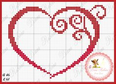 Cuore Small Cross Stitch, Cross Stitch Heart, Cross Stitching, Cross Stitch Embroidery, Wedding Cross Stitch Patterns, Graph Paper Art, Cross Stitch Boards, Heart Patterns, Christmas Cross