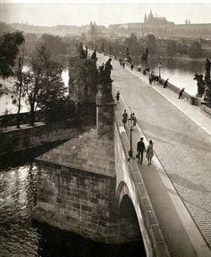 lostandfoundinprague:  Prague and Charles Bridge by B.Landisch, 60's