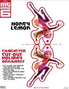 Big Hero 6 Honey Lemon Holiday Ornament Cut-out