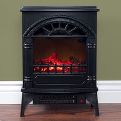 Freestanding Electric Log Fireplace Decorative Wood Classic Black Adjustable New #Doesnotapply #Electric #Fireplace #Black #Furniture