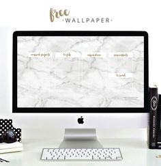Design Boutique | Passionate + Creative Businesses | FREE · Desktop Wallpaper · Marble + Gold