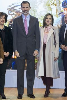 The mother-of-two and her husband were attending the opening of the FITUR International Tourism Fair earlier this week