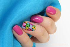 Puzzle nails design