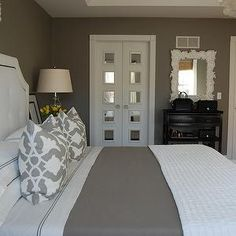 bedroom design, decor, photos, pictures, ideas, inspiration, paint colors and remodel.  Love the closet door.