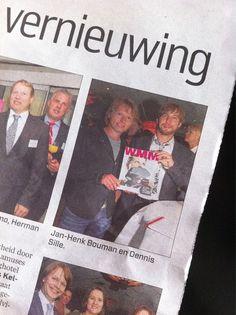 Sta ik toch in de belangrijkste krant van Nederland samen met @cm_amersfoort ;)