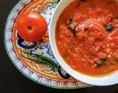 This recipe is for a thick Mexican inspired tomato soup, it is very comforting for those mildly cold nights, it is full of flavor, low calorie, and very nutritious! Lunch Recipes, Soup Recipes, Whole Food Recipes, Free Recipes, Vegan Mexican Recipes, Vegan Recipes, Cooking Recipes, Ethnic Recipes, Vegan Food