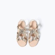 Image 4 of METALLIC SANDALS from Zara