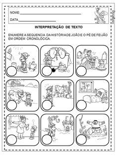 Dani Educar : Atividades sequencia da história João e o pé de feijão