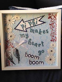 Pi Beta Phi craft- Pi Phi makes me heart go boom boom! #piphi #pibetaphi