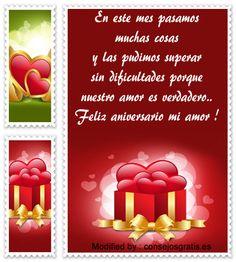 mensajes de aniversario de novios,mensajes de aniversario de novios para facebook : http://www.consejosgratis.es/frases-para-festejar-el-primer-mes-de-novios/