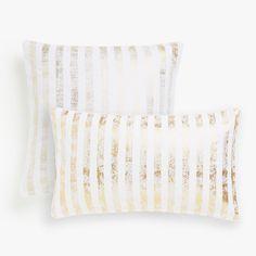 Изображение товара Чехол для подушки в золотистую полоску