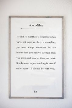 A.A. Milne QuoteWinnie the PoohChristopher by Sophistiqa on Etsy