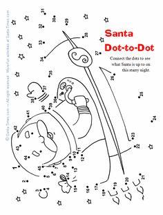 Starry Santa Dot-toDot
