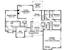 Floor plan of a ranch house I'd love