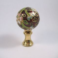 Hey, I found this really awesome Etsy listing at https://www.etsy.com/listing/237088528/lamp-finial-cloisonne-sphere-with-new