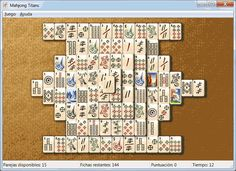 Mahjong Titans game layouts  Mahjong, Games, Titans