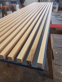 Wooden Wall Design, Wall Panel Design, Tv Wall Design, Ceiling Design, Door Design, Wood Slat Wall, Wood Slats, Wooden Walls, Home Room Design