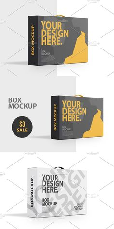 Box With Handle PSD Mockup, Side view, Template packaging, SALE just $3 What Inside Zip Archive with 1 PSD Hi-Res file Smart Objects to place your Design and Text Layered and Grouped PSD High resolution 4500 x 3375 px (300dpi) Changeable background color and BOX Design or Color Sample design is not included PERFECT FIT FOR YOUR DESIGN #psd #mockups #branding #Mockup Graphic Design Templates, Psd Templates, Box Mockup, Corporate Branding, Banner Template, Side View, Box Design, Creative Design, Colorful Backgrounds