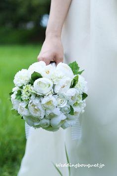 Whitegreen Naturalbouquet☆|初めて選ぶ貴女に似合うウェディングブーケ