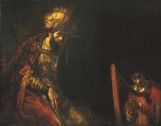 David en Saul ~ ca. 1658 ~ Olieverf op doek ~ 130 x 164,5 cm. ~  Mauritshuis, Den Haag