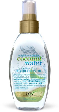 Coconut Water Hydration Oil for your hair. Great for split ends and it smells great. By OGX