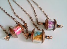 Image of Cosmos Capsule Bead Necklace