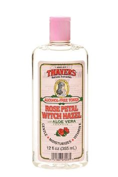 Budget Toner Thayers Witch Hazel is a classic toner, and an affordable one at that. Witch-hazel extract, aloe vera, and vitamin E help tighten pores without drying or irritating skin — just make sure to get the alcohol-free version. #refinery29 http://www.refinery29.com/new-skin-routine-products#slide-4