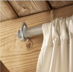 Outdoor privacy curtain installation