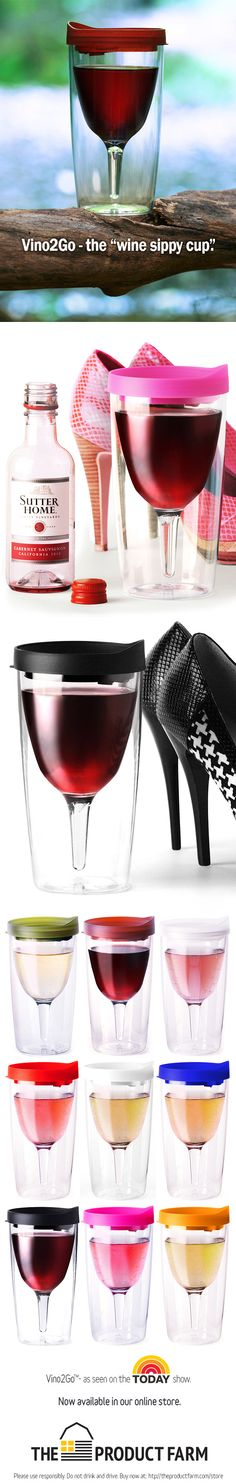 "Vino2Go™ - the ""Wine Sippy Cup"" as seen on the TODAY show. Very cool.....but really, where ya gonna go with it?"