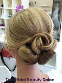 unique wedding hair bun