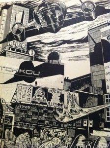 Sachiko Kazama Relief print; Details; Tokkou