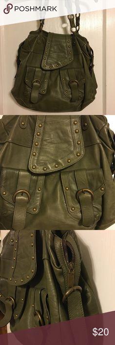 Olive Green Leather Italian Handbag Bag is in great shape. Good size over the shoulder bag.  Nice olive green color. unknown Bags Shoulder Bags