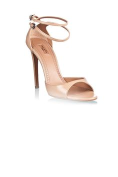 Alaia nude sandals with double leather ankle straps
