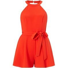 Pin for Later: Jump Into One of These 50 Jumpsuits and Playsuits This Wedding Season! Miss Selfridge Petites Neck Playsuit Red Romper, Long Romper, Playsuit Romper, Miss Selfridge, Petite Jumpsuit, Red Jumpsuit, Halter Jumpsuit, Looks Plus Size, Overall Shorts