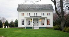 Stunning Greek Revival home with beautiful vistas and 3 restored outbuilding residences in Columbia County, near Hudson NY. Southern Farmhouse, American Farmhouse, Fresh Farmhouse, Farmhouse Plans, Modern Farmhouse, Farmhouse Style, White Farmhouse, Modern Country, Southern Charm