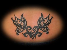 tribal butterfly and heart