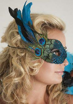 peacock masquerade mask - Google Search