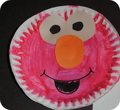 Elmo Plate craft - Preschool crafts - Home Baran Letter E Activities, Preschool Letters, Preschool Crafts, Preschool Projects, Daycare Crafts, Classroom Crafts, Classroom Ideas, Art Projects, Letter E Craft