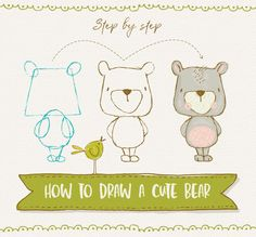 How to draw a cute bear - Lisa Glanz