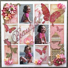 Scrapbook page layout. Or would make a beautiful wall hanging.