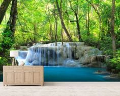 Erawan Waterfall, Thailand mural wallpaper