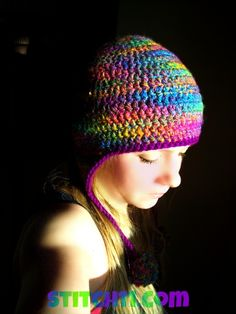 Curly Q ~ Earflap Hat **Free Crochet Pattern by Stitch11**