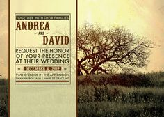 Photography invitation.  Love the picture and the idea behind incorporating type into this.